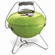 Weber Smokey Joe Premium Portable Charcoal BBQ Spring Green