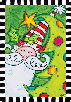 Custom Decor Flag   Whimsy Santa Decorative Flag At Garden House Flags At  GardenHouseFlags