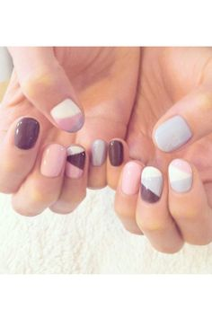Geometric nail art is a trendy and so not-boring way of painting your nails!