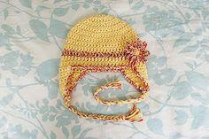 Free Pattern: Baby Earflap Hat - 6 months