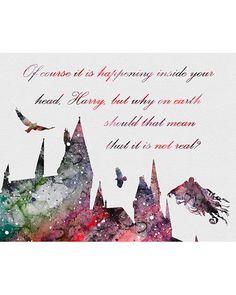 Harry Potter Hogwarts Watercolor Art - VIVIDEDITIONS