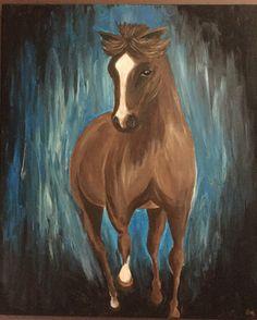 Horse in acrylic