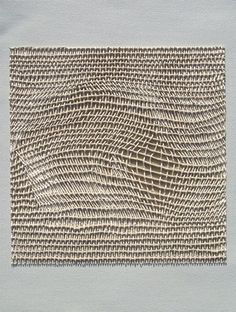 Danielle Mysliwiec (Middle Ground I, above). It's not macramé, not string theory, not knots at all. Weaving Textiles, Weaving Art, Tapestry Weaving, Loom Weaving, Hand Weaving, Textile Texture, Textile Fiber Art, Textile Manipulation, Sheila Hicks