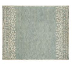 Desa Rug - Blue #potterybarn: guest room 2; 2 runners on outside of twin beds