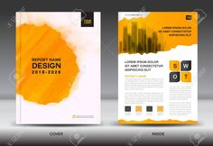 Annual report brochure flyer template, Yellow cover design, business layout, advertisement, book, leaflet, catalog layout in a4 size Stock Vector - 81316851