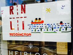 A great Gelwonder Window Competition entry from Heirlooms in Teddington! Their chosen charity is the Teddington RNLI #GelwonderWindowCompetition #Gelwonder #WindowDisplay #BeCreative