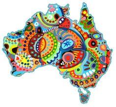 Uluru - Aboriginal dot painting - art for children and teachers ...