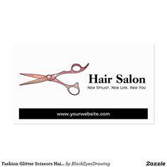 Fashion Glitter Scissors Hair Beauty Salon