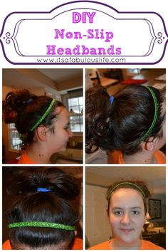 DIY Non-Slip Headbands Craft -- my fave new project to make.  They come out perfect and only take 5 minutes.  #obsessed #DIY