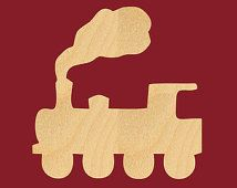 Toy Train Cutout Shape Laser Cut Crafts, Gift Tags, Ornaments (Various Sizes) A54