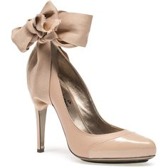 """ Lanvin Pump "" Ankle Strap (1,515 CAD) ❤ liked on Polyvore featuring shoes, pumps, heels, zapatos, footwear, nude, platform pumps, nude heel pumps, high heel shoes and nude pumps"