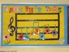 Name that Tune Bulletin Board Classroom Bulletin Boards, Music Classroom, Classroom Ideas, Name That Tune, Church Music, Elementary Music, Music Education, Classroom Organization, Names