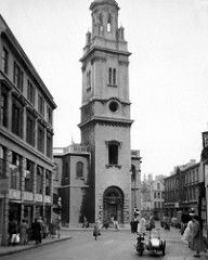 St.James's church, Bath c. 1950,demolished c. 1955