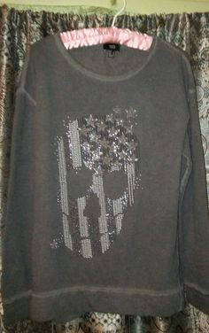womens mng skull sweatshirt size medium #mng #SweatshirtCrew