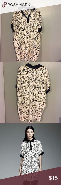 Catherine Melandrino Paris Dress/Tunic XXS fits more like a small, super cute! Catherine Malandrino Dresses