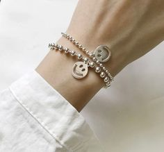 Excited to share the latest addition to my #etsy shop: Smiling Face bracelet S925 Silver Color Round Hollow Smiling Face Beads Bracelet For Women Jewelry Gifts Jewelry Gifts, Jewelry Bracelets, Mirrored Wardrobe, Smile Face, Silver Color, Casual Outfits, Women Jewelry, Etsy Shop, Beads