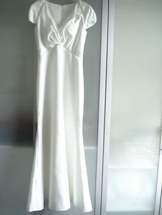 Englischer Designer Brautkleid Champagner in Größe 38 für 180€ auf Wunsch-Brautkleid.de