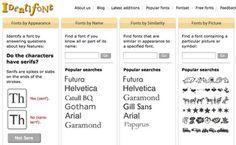 Identifont : Calculadora de la Regla de Oro Tipografica . Descubrir la tipografía perfecta para sus sitios web ingresando el tamaño de la fuente, ancho del contenido y la altura de la línea. Identifont también te indica el nombre de una fuente desconocida.