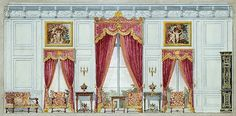 The Breakers: Bedroom of Cornelius Vanderbilt II, design for window wall;