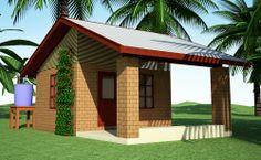 CONCEITO - Construções feitas utilizando tijolos ecológicos de solo-cimento + bambu