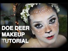 ▶ Doe Deer Makeup Tutorial Halloween - YouTube