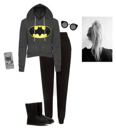 """Lazy Nights"" by hanakdudley ❤ liked on Polyvore featuring UGG Australia and Quay"