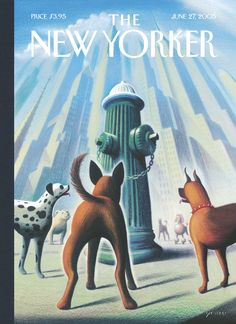 """The New Yorker - Monday, June 27, 2005 - Issue # 4126 - Vol. 81 - N° 18 - Cover """"Dog's Eye View"""" by Eric Drooker"""