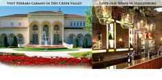 Ferrari-Carano's spectacular Italianate hospitality wine center, Villa Fiore, is set in the midst of their 70-acre Dry Creek Valley estate vineyard in Healdsburg.