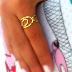 Open circles ring . Retro chic . Retro style ring . by shmukies