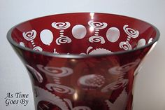 Egermann Royal Ruby Cut & amp;  leptaná Váza