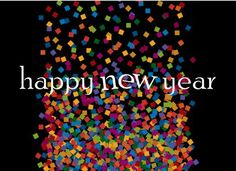 new years cards | Confetti New Years Card - New Years Cards For Charity