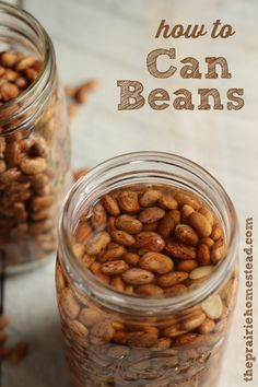 how to can beans -- this saves room in your freezer, and now you'll always have beans ready-to-go at a moment's notice!: