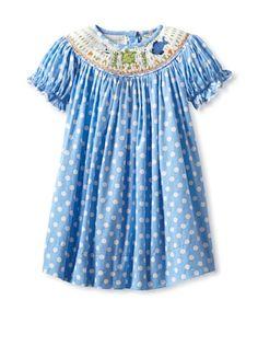 Beyond 50% OFF Marjorie\'s Daughter Baby Polka Dot Print Bishop Dress