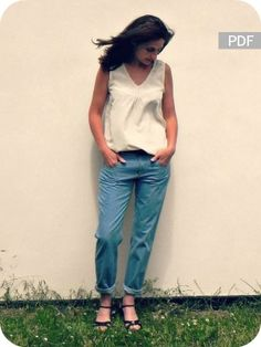 patron de couture – jeans boyfriend -  Pop-corn