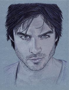 Damon Salvatore (Ian Somerhalder) portrait #TVD #TheVampireDiaries
