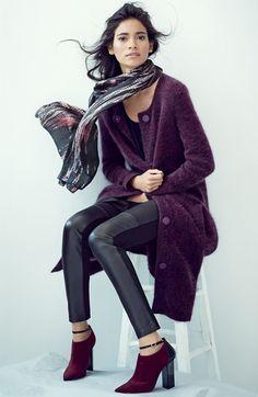 Eileen Fisher Long Round Neck Sweater Coat | Nordstrom