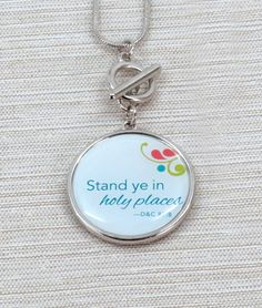 """Stand ye in holy places,"" double sided charm."