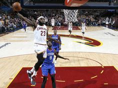 Cleveland Cavaliers forward LeBron James prepares to hammer down a dunk against the Philadelphia 76ers in the second half.  (Joshua Gunter/Northeast Ohio Media Group) Monday, February 02, 2015.  Quicken Loans Arena, Cleveland, Ohio.