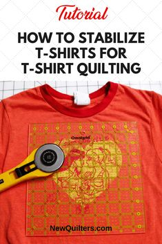 Learn how to use interfacing to tame stretchy t shirts for quilting and make them play nicely in your t-shirt quilt. Tutorial from NewQuilters.com #quilting #tshirt quilts