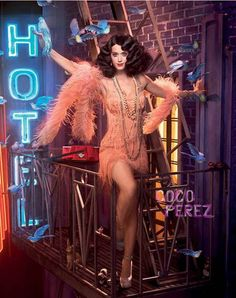 Katy Perry photographed by Dave LaChapelle in a Roaring 20's theme