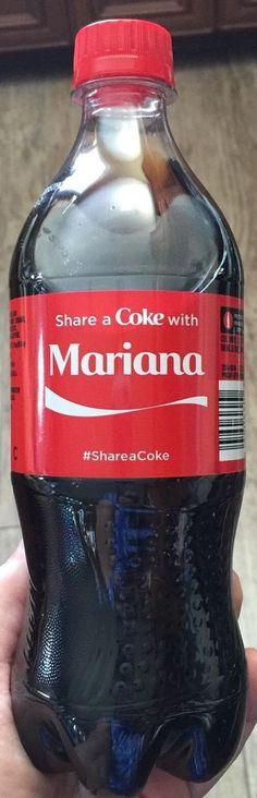 2015 Share A Coke With Mariana 20 oz plastic bottle