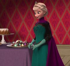 Her Majesty, Queen Elsa of Arendelle just wants some chocolate. :)