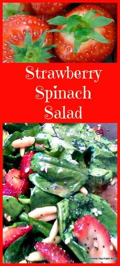 Strawberry and Spinach salad with a delicious poppyseed dressing is to die for! Great for parties, BBQ's and as a side dish for lunch or dinner Healthy Recipes, Great Recipes, Healthy Snacks, Healthy Eating, Cooking Recipes, Recipes Dinner, Crockpot Recipes, Cooking Tips, Breakfast Recipes