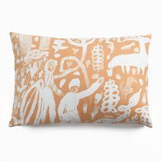 Harvest Peach Throw Pillows | Unison