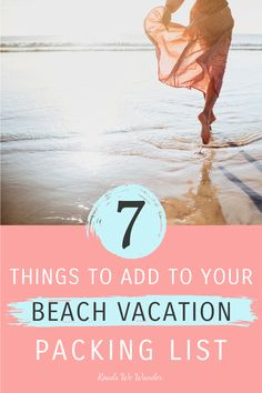 Wait! Before you go, you need to add these 7 items to your beach vacation packing list! You won't want to spend 5  days in paradise without these essentials! I'm guessing you haven't even considered packing these, so go read the list! #RoadsWeWander Beach Vacation Packing List, Beach Vacations, Beach Trip, Vacation Destinations, Packing Lists, Packing Tips For Travel, Travel Hacks, Travel Advice, Visit Florida