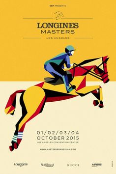 Longines Masters of Los Angeles Children's Book Illustration, Illustrations, Graphic Design Illustration, Horse Posters, Art Deco Posters, Gucci, Horse Print, Equine Art, Graphic Design Posters