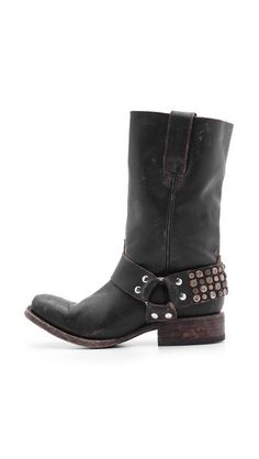 Thompson Studded Moto Boots by Freebird By Steven #musthave #givethemtomenow #madeforme