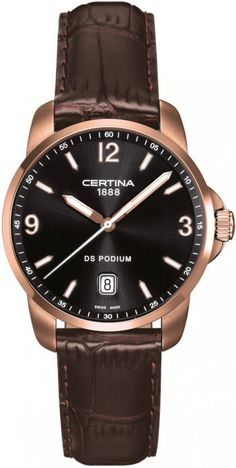 Certina Watch DS Podium Quartz #bezel-fixed #bracelet-strap-leather #brand-certina #case-material-rose-gold #case-width-38mm #date-yes #delivery-timescale-7-10-days #dial-colour-black #gender-mens #luxury #movement-quartz-battery #official-stockist-for-certina-watches #packaging-certina-watch-packaging #style-dress #subcat-ds-podium #supplier-model-no-c001-410-36-057-00 #warranty-certina-official-2-year-guarantee #water-resistant-100m