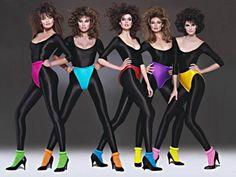 Paulina Porizkova on left, Carol Alt -middle Paulina Porizkova, Moda Disco, Look Athleisure, 80s Fashion, Vintage Fashion, Look 80s, 80s Workout, Renee Simonsen, Estilo Hippie Chic