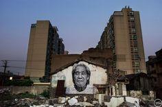 The Wrinkles of the City - Shanghai | JR - Artist  Action in Shanghai, Ji Jinsui, Chine, 2010